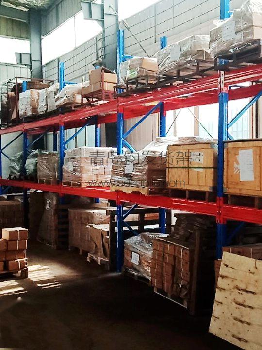 恭喜即墨区南泉镇某索具公司在青岛钧发货架定制一批重型仓储货架并顺利安装完成