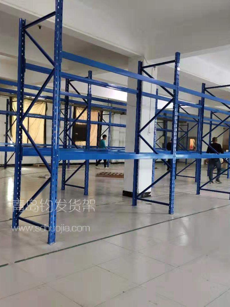 恭喜烟台芝罘区某医药公司在青岛钧发货架定制一批中型仓储货架并顺利安装完成