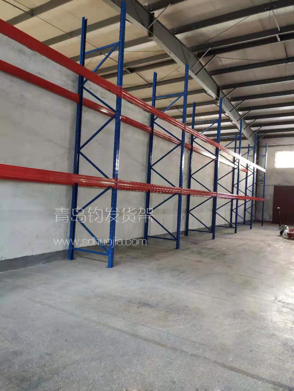 恭喜青岛市城阳区某公司在青岛钧发货架定制一批重型仓库货架并顺利安装完成
