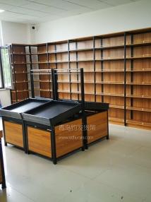 东营某社区进口食品店在青岛钧发货架选购一批钢木结合货架并顺利安装完成