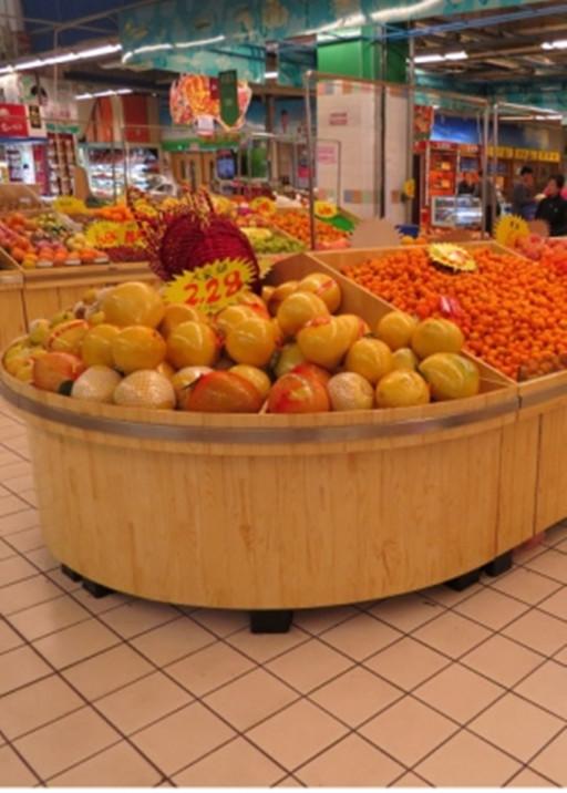 威海木质蔬菜货架定做