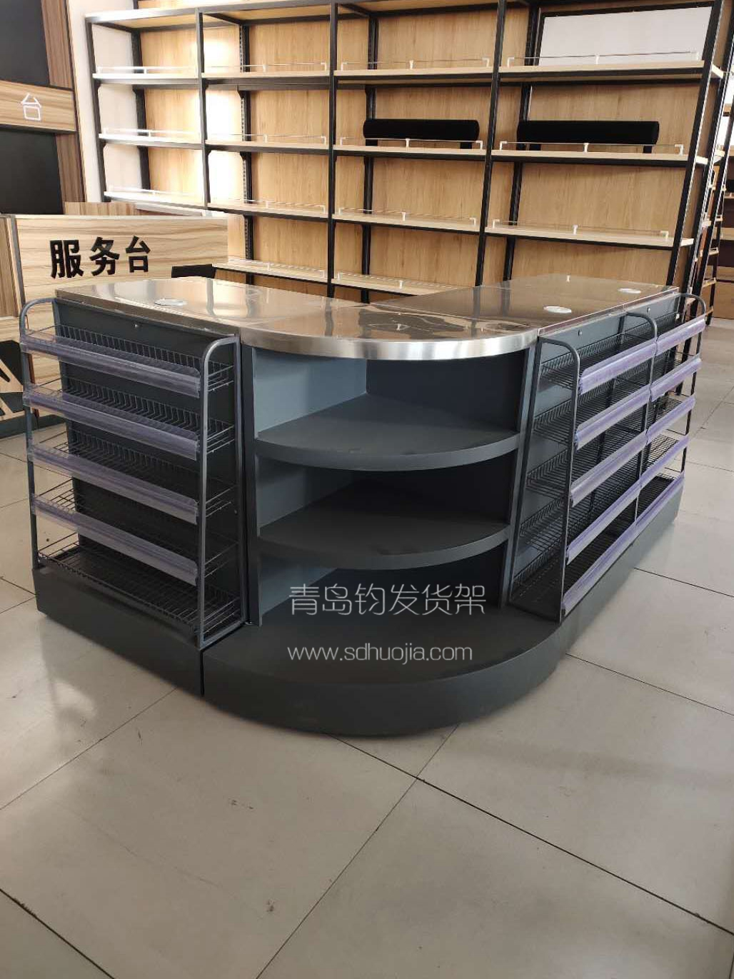 青岛超市货架配套-收款台