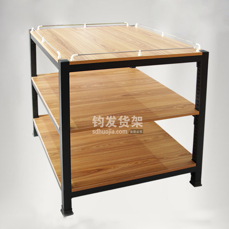 钢木结合置物架