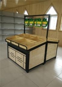 钢木结合果蔬货架