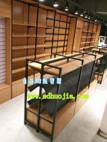 钢木结合文具货架