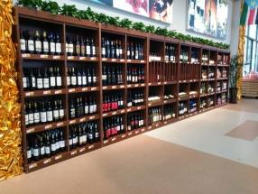 淄博木质酒柜货架