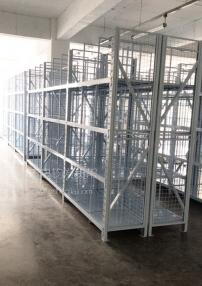 中型仓储货架+背网+侧网
