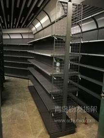 恭喜青岛李沧某外贸公司在我公司定制一批冲孔磨砂灰货架并顺利安装完成