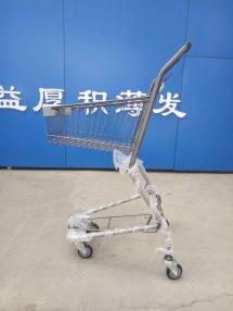 淄博超市购物车—双层提篮车