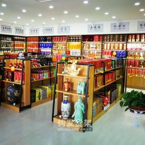 潍坊钢木货架木质酒柜