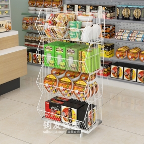 超市特价台-叠笼