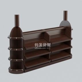 潍坊木质货架—红酒货架、红酒展架
